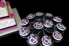 Cupcakes bij bruidstaart